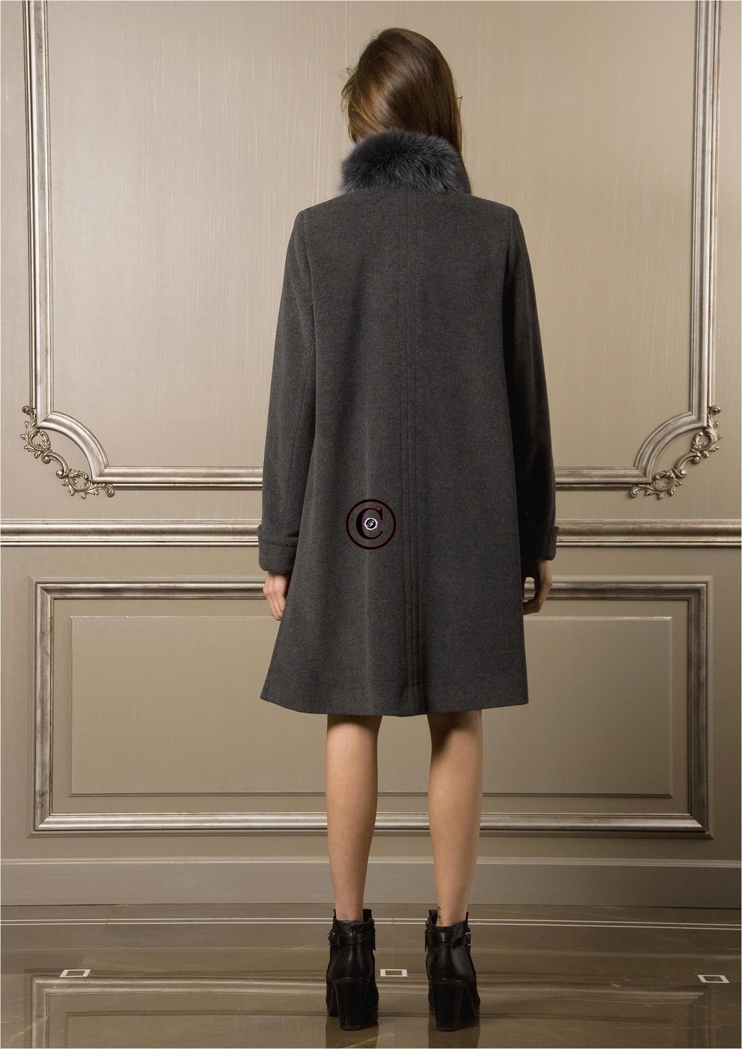 Manteau Femme Baya Paris Osaka Taille 48 Gris En Laine Et