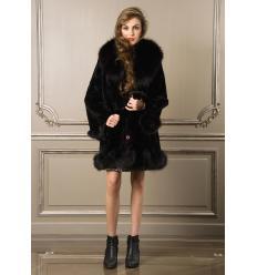Manteau noir 7111 Lapin et Renard
