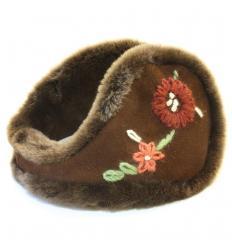 Cache-oreilles façon «tour de cou» avec motifs fleurs