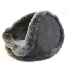 Cache-oreilles façon «tour de cou» gris