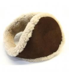 Cache-oreilles façon «tour de cou» marron
