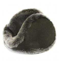 Cache-oreilles façon «tour de cou» taupe