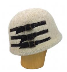 Chapeau en laine d'agneau Mérinos