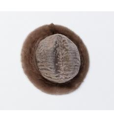 Chapeau en laine d'agneau Karakul et fourrure de vison
