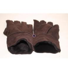 Gants marrons MOSCOU Mouton