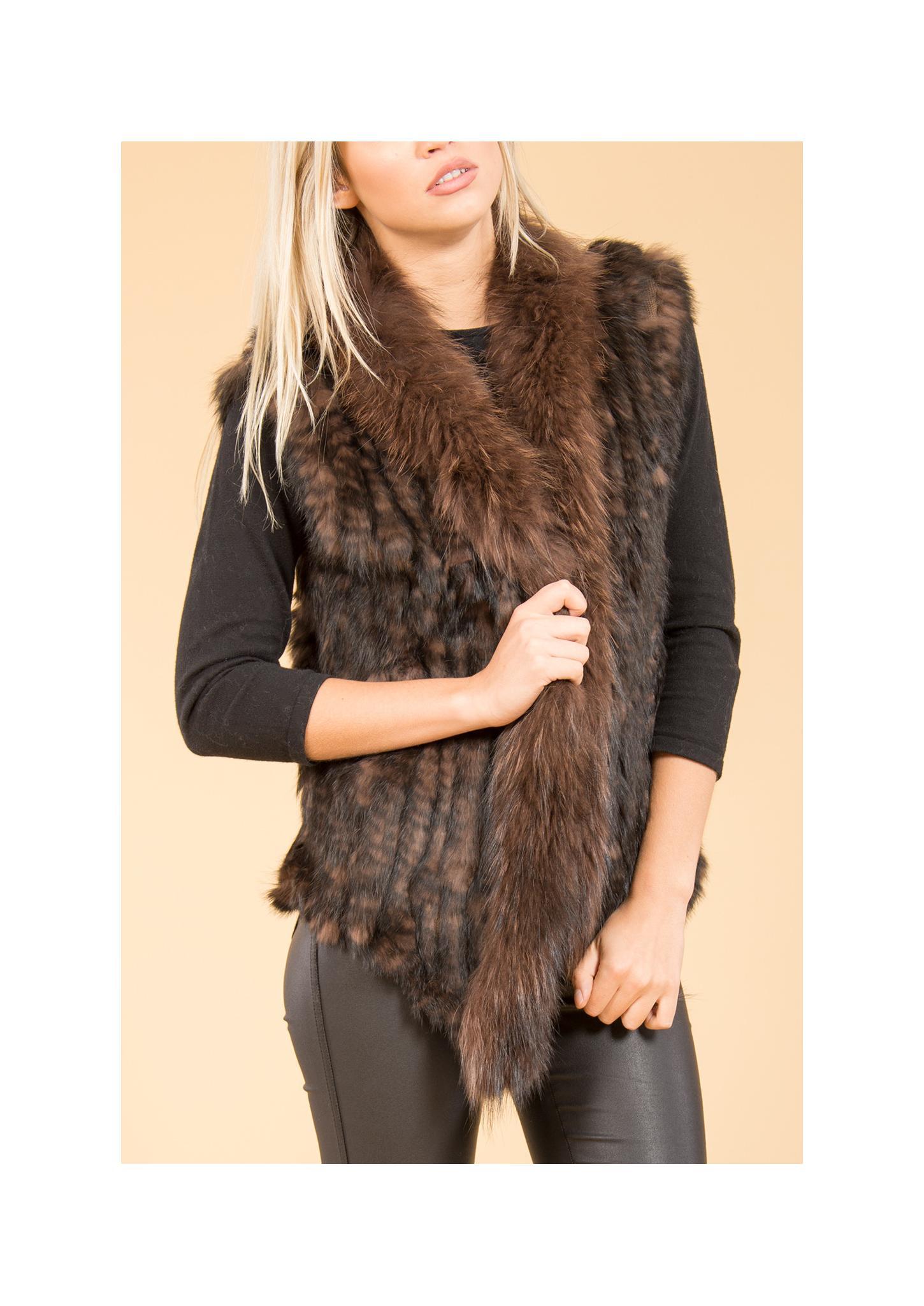 Furshouse Gilets En Vestes Femmes Fourrure qc6YBp4w7X