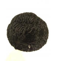 Chapeau noir en astrakan (laine d'agneau)