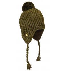 Bonnet Péruvien tricots chinés avec Pompon