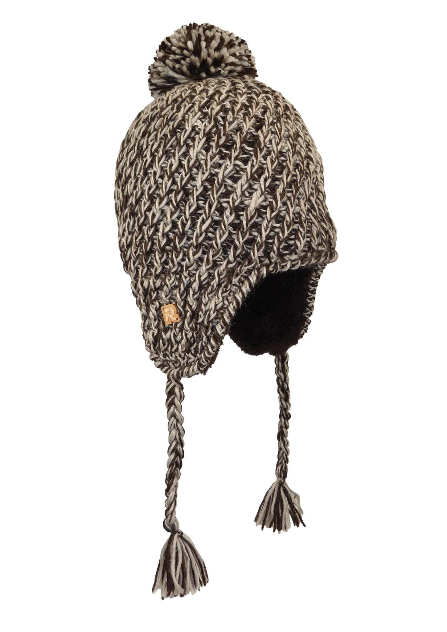 66168fb1901b Bonnet Péruvien tricots chinés avec Pompon