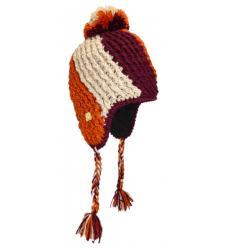 Bonnet Péruvien tricolore avec Pompon