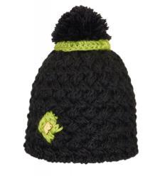Bonnet bicolore en tricots croisés avec Pompon et Corolle